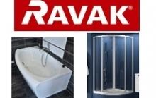 Ravak dušo kabinos, vonios ir jų priedai