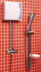Momentinis vandens šildytuvas EPJ-5,5PU Primus su dušo komplektu ir maišytuvu, 5,5 kW