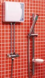 Momentinis vandens šildytuvas EPJ-4,4PU Primus su dušo komplektu ir maišytuvu, 4,4 kW