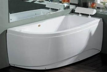 Akrilinė vonia B1680 dešininė 150cm empty
